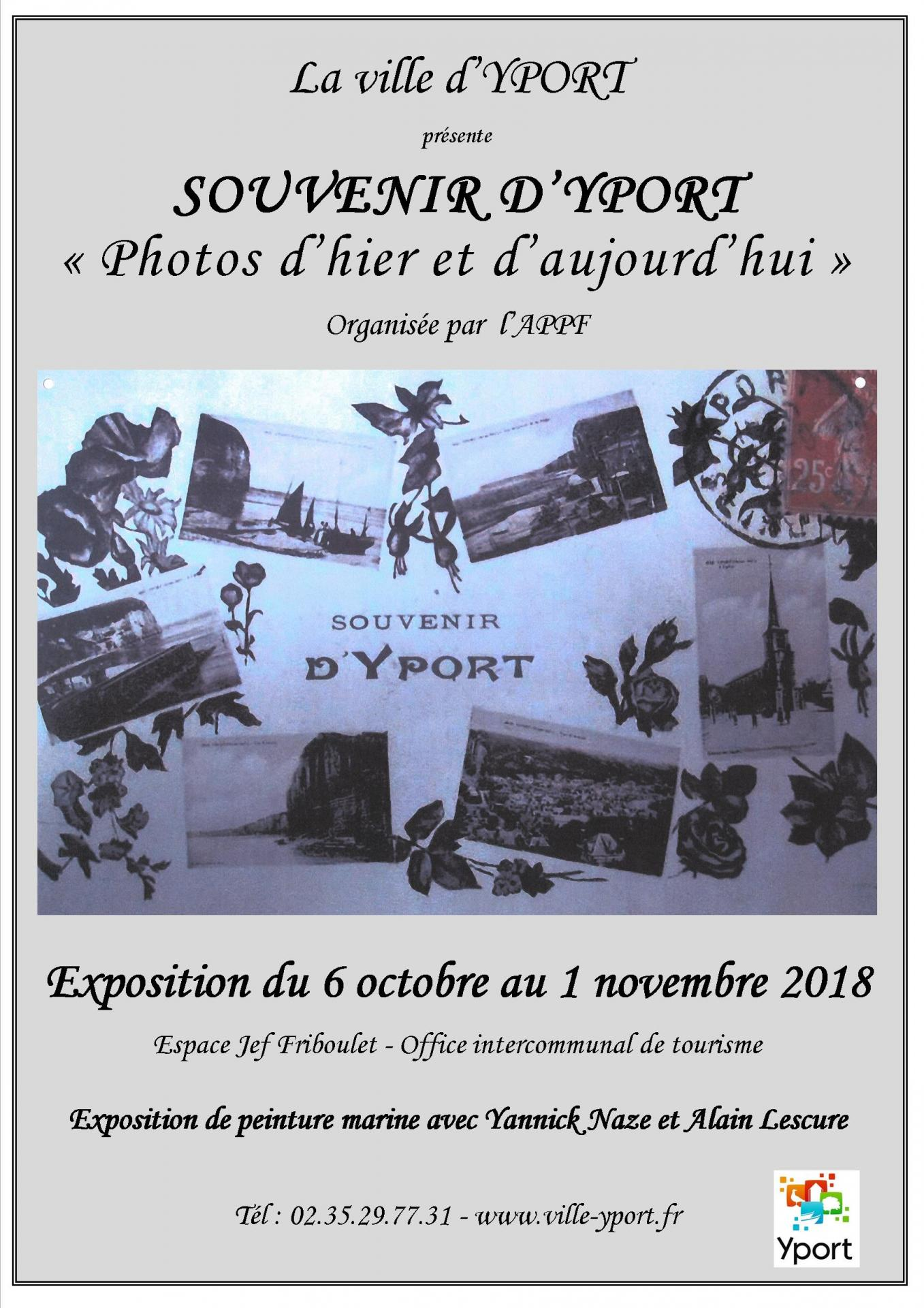 Affiche exposition souvenir d yport